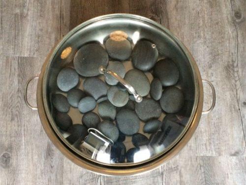 Hotstone pan inclusief uitgebreide set stenen
